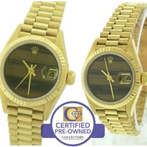 Rolex DateJust President 26mm Tigers Eye 69178 18K Yellow Gold