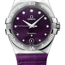 Omega Constellation Purple Quartz Ladies Watch