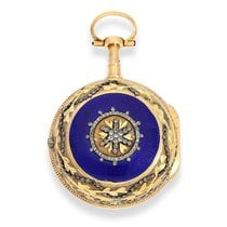 Berthoud Pocket watch: high-quality gold/enamel verge watch...