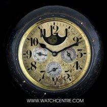 Depose R.U. Brass & Gunmetal Swiss Full Calendar Desk Clock