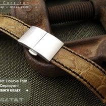 MiLTAT For Rolex 21mm CrocoCalf Honey Brown Watch Strap