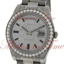 Rolex Day-Date II President 41mm, Pave Diamond Dial, Diamond...