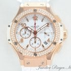 Hublot Big Bang 41mm Rosegold 750 Diamanten Chrono 341.PE.2010...