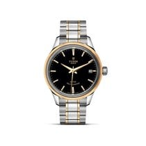 Tudor STYLE Stainless Steel Gold Date Automatic Black 12303