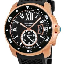 "Cartier ""Calibre de Cartier Diver"" Strapwatch."