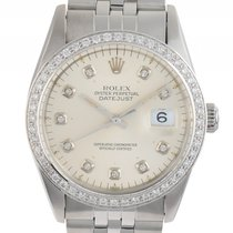 Rolex Datejust Stahl Weißgold Diamond Automatik Armband Jubilé...