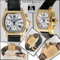 Cartier 18k Yellow Gold Silver Dial Roadster XL Chronograph
