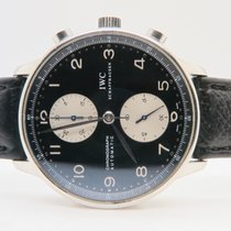 IWC Portuguese Chronograph Black Dial Ref. IW371404