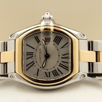 Cartier Roadster Pilot Gold Steel Roman Dial 32 x 37 mm