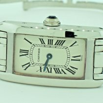 Cartier Tank Americaine 18K Solid White Gold