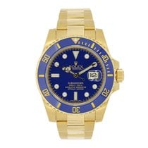 Rolex SUBMARINER 18K Yellow Gold Blue Diamond Dial