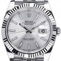 Rolex Datejust 41 Stahl Weißgold Automatik Armband Jubilé 41mm...