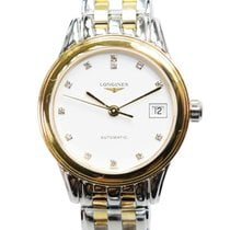 Longines Flagship Pvd Gold White Automatic L4.274.3.27.7