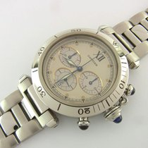 Cartier Pasha Chronograph Quartz Ref 1050 Stahl 38 Mm Revision