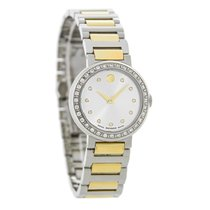 Movado Concerto Ladies Diamond Two Tone Swiss Quartz Watch...