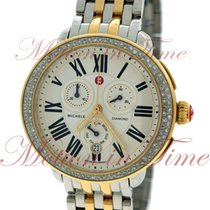 Michele Serein Signature, Silver Dial, Diamond Bezel - Yellow...