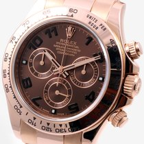 Rolex 18K Everose Gold Daytona Chocolate Arabic Dial 116505