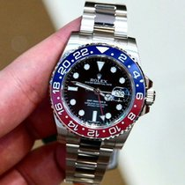 ロレックス (Rolex) GMT Master II Black Dial 18kt White Gold Watch