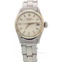ロレックス (Rolex) Ladies Vintage Rolex Date 18K White Gold Bezel...