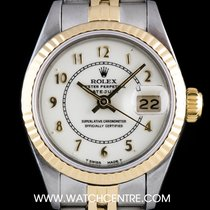 Rolex S/G O/P Cream Enamel Boiler Gauge Dial Datejust 69173