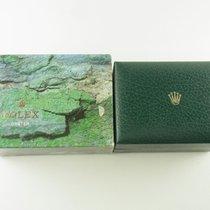 Rolex Box Etui Mit Umkarton Vintage 70er Jahre Green Leather Box