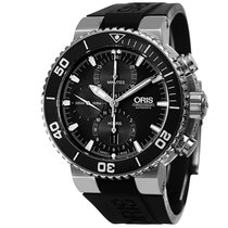 Oris Aquis Chronograph Rubber Strap Men's Watch 77476554154RS