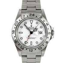 Rolex Mens 16570 Explorer II - White Dial - Oyster Flip-lock Band
