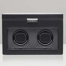 Wolf Viceroy 2.7 Double Watch Winder with Storage - Black