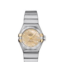 Omega 12320272057003 Constellation 27mm Diamonds Gold Ladies