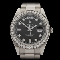 Rolex Day-Date II 18k White Gold Gents 218349