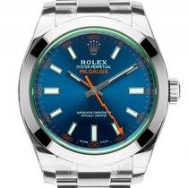 Rolex Oyster Perpetual Milgauss Elektroblau Stahl Automatik...