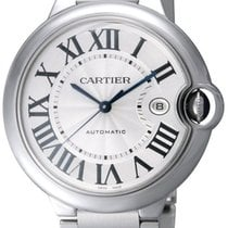 Cartier Ballon Bleu Midsize 42mm Silver Dial Swiss Automatic...