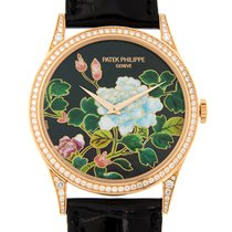 百達翡麗 (Patek Philippe) Calatrava 18 K Rose Gold With Diamonds...