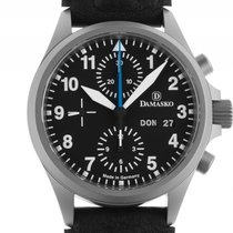Damasko DC58 Stahl Automatik Chronograph Armband Leder 40mm...