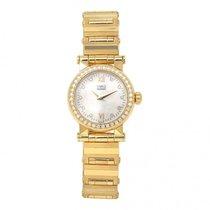 Movado Vizio 18k Yellow Gold Diamond Bezel Swiss Quartz Ladies...