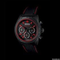 Tudor Fastrider Black Shield Red Index Leather Strap