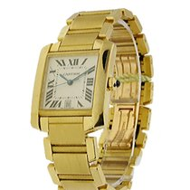 Cartier W50001R2 Tank Francaise - Large Size - Yellow Gold -...