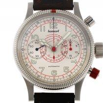 Hanhart Pioneer Tachy Tele Chronograph Stahl Automatik Armband...