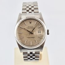 Rolex Datejust 16234 Silver Linen Dial -  36mm Jubile -...