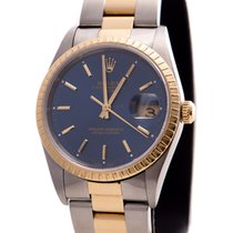 Rolex Oyster Perpetual Date Steel/Gold Blue dial