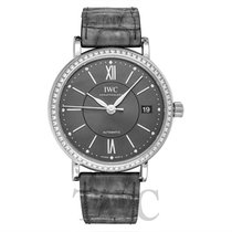 IWC Portofino Automatic 37 Slate colored Steel/Leather 37mm - IW