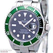 Rolex Submariner Date Ref-16610LV Green Bezel MarkV Stainless...