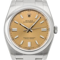 Rolex Oyster Perpetual 36mm Stainless Steel White Grape/Index...