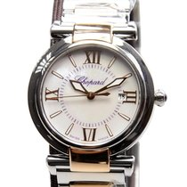 Chopard Imperiale 18k Rose Gold And Steel White Quartz...