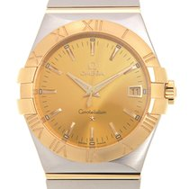Omega Constellation Gold And Steel Gold Quartz 123.20.35.60.08...