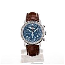 Breitling Navitimer Cosmonaute 43 Blue Dial Light Brown...
