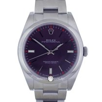 Rolex 114300 Oyster Perpetual Steel Red Grape Dial