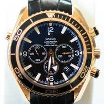 Omega Seamaster 18k Rose Gold Black Dial