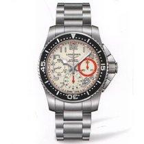 Longines HydroConquest Chronograph Automatik 41mm weiß schwarz