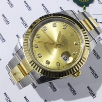Rolex Oyster Perpetual Datejust Diamond Markers Champagne Dial...